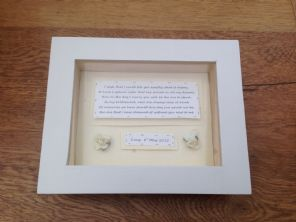Shabby Personalised Chic Box Frame Gift For Sister Bridesmaid Matron Maid Honour